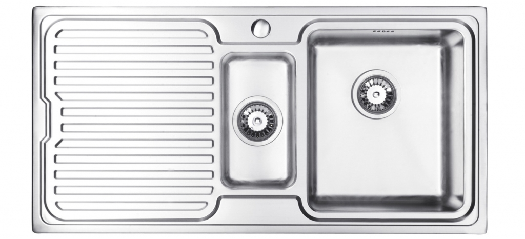 Bluci Orbit 1 1.5 Bowl Stainless Steel Kitchen Sink with Drainer