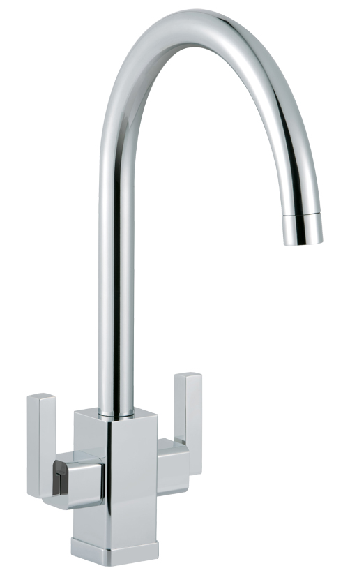 Bluci Panaro Twin Lever Kitchen Tap
