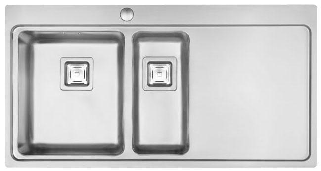 Bluci Orbit 50 1.5 Bowl Stainless Steel Kitchen SInk with Drainer