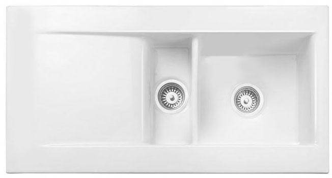 Bluci Vecchio DS1 1.5 Bowl Ceramic Kitchen Sink with Drainer