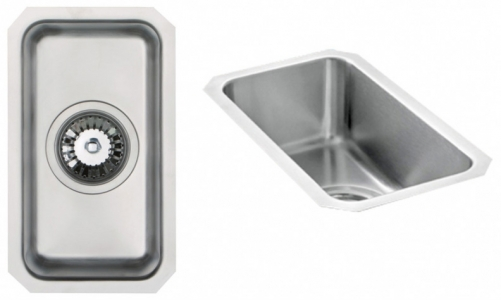 Bluci Orbit 22 Half Bowl Undermount Stainless Steel Kitchen SInk