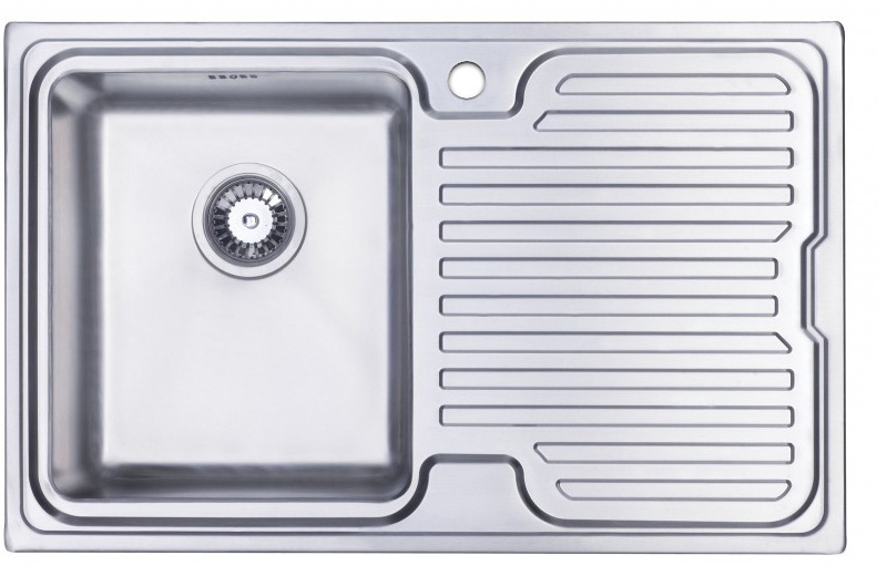 Orbit 3 stainless steel kitchen sink with drainer