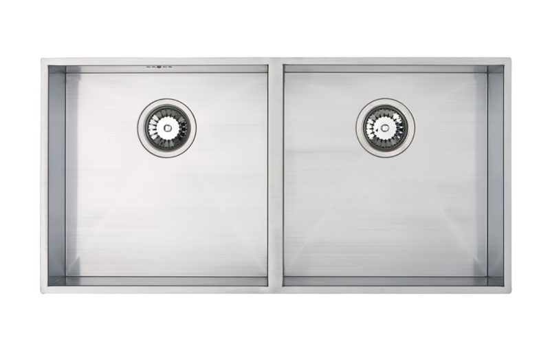 Bluci Kube 4040 double bowl stainless steel kitchen sink