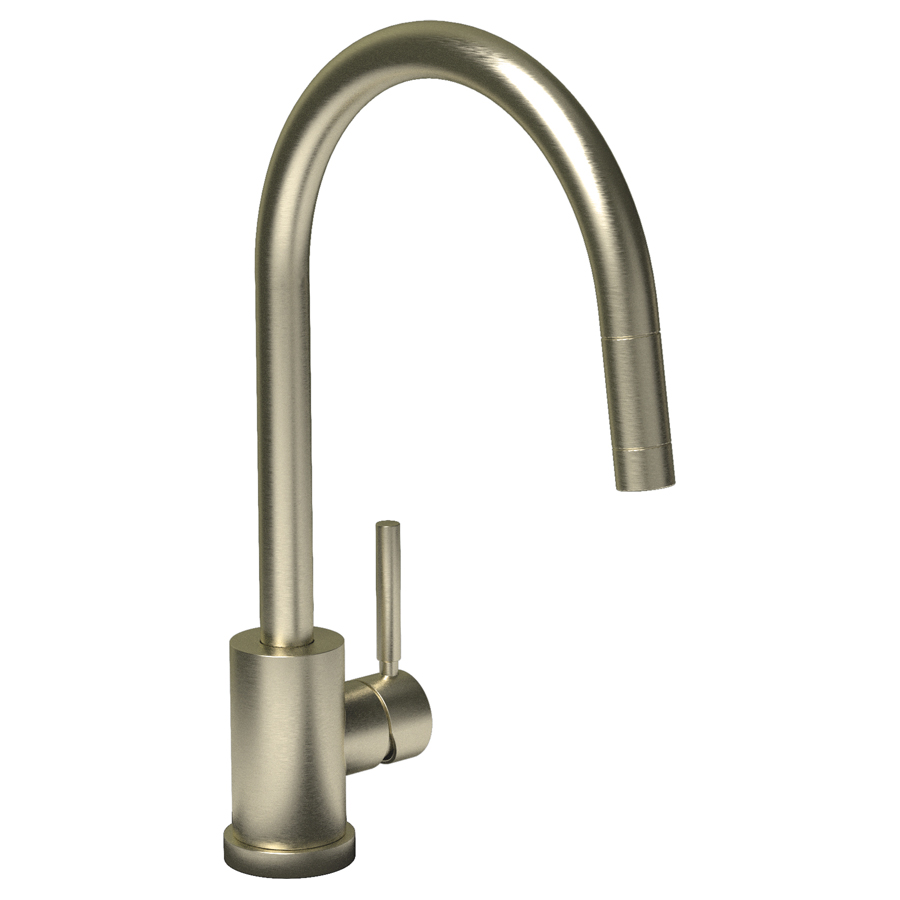 LAMBRO Pull Out Kitchen Tap in Brushed Nickel