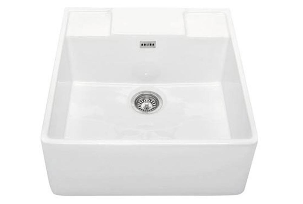 Bluci G14 Single Bowl Ceramic Butler Sink with Tap Ledge
