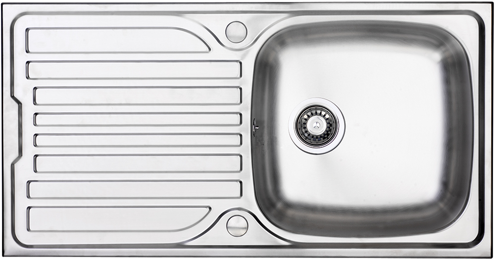Bluci Turin 100 Single Bowl with Drainer Stainless Steel Kitchen Sink