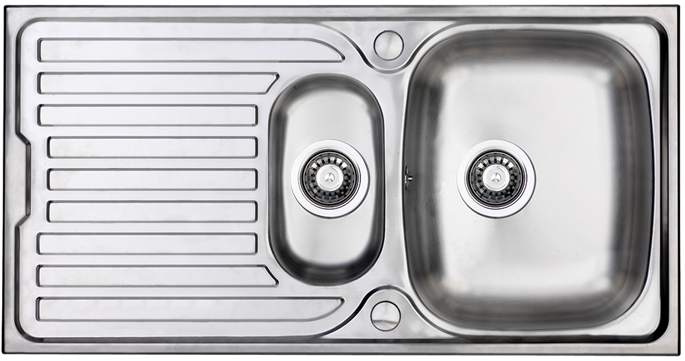 Bluci Turin 150 1.5 Bowl Stainless Steel Kitchen SInk and Drainer