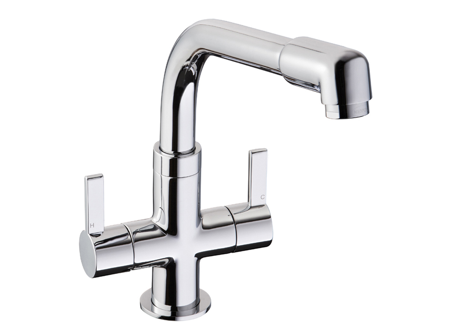 Bluci GEMELLO Twin Handle Monobloc Kitchen Tap
