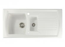 VECCHIO 1011 1.5 Bowl & Drainer Ceramic Kitchen Sink